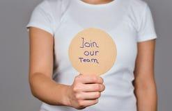 Joignez notre ?quipe manuscrite photos libres de droits