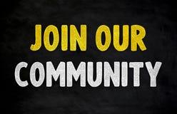 Joignez notre communauté - concept de tableau illustration stock