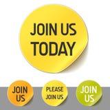 Joignez-nous bouton Photo stock