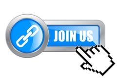 Joignez-nous bouton Photos stock