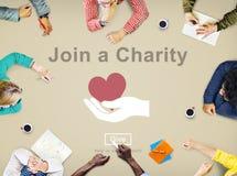 Joignez un concept d'amour de soin d'invitation d'aide de charité Image stock
