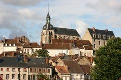 Joigny en Borgoña Fotos de archivo libres de regalías