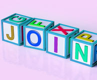 Join Blocks Mean Sign Up To Group Or Organization Stock Images