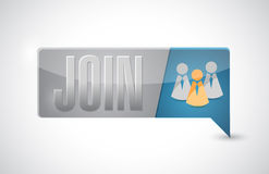 Join button illustration design Stock Image