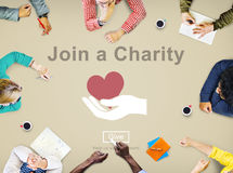 Join a Charity Help Invitation Care Love Concept Stock Image