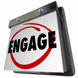 Join Engage Calendar Participate Interact Now Stock Photography