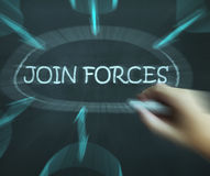 Join Forces Diagram Means Work Together And Partnership Royalty Free Stock Photo