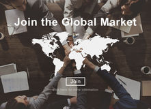Join the Global Marketing Business Strategy Commerce Website Con Stock Photography