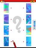 Join halves game of abstract pictures Stock Image