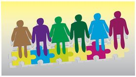 Join Hands Together Co-Operation Business Vector Stock Image