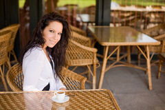 Join me for a coffee. Stock Photography