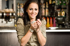Join me for a coffee. Royalty Free Stock Photos