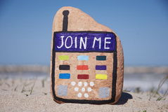 Join Me On Display Royalty Free Stock Photo