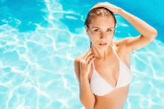 Join me in the pool! Stock Photography