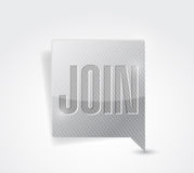 Join message bubble pointer illustration Stock Photos