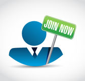 Join Now avatar sign concept Stock Photography