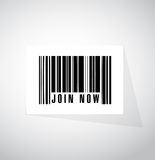 Join Now barcode sign concept illustration Royalty Free Stock Image
