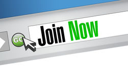 Join Now browser sign concept Stock Photography
