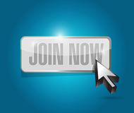 Join Now button sign concept illustration Stock Photography
