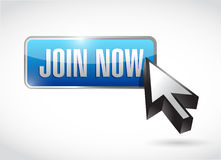 Join Now button sign concept Royalty Free Stock Photography