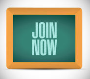 Join Now chalkboard sign concept Stock Images