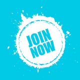 Join now grunge circle design Royalty Free Stock Images