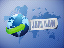 Join Now international background sign concept Royalty Free Stock Image