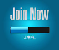 Join Now loading bar sign concept illustration Stock Image