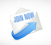 Join Now mail sign concept illustration Stock Images
