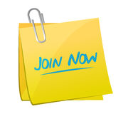 Join Now memo post sign concept Stock Images