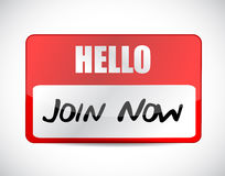Join Now name tag sign concept Royalty Free Stock Photo