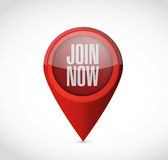 Join Now pointer sign concept illustration design Stock Images