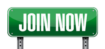 Join Now post sign concept illustration Royalty Free Stock Image