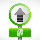 Join Now road sign concept illustration Stock Photo
