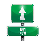 Join Now street sign concept Stock Image