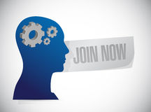 Join Now thinking sign concept Stock Photo