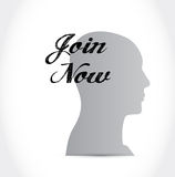Join Now thinking sign concept Royalty Free Stock Photo