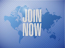Join Now world map sign concept Royalty Free Stock Photo