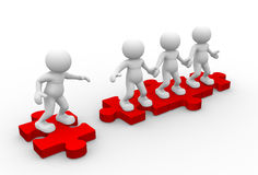Join Our Community. 3d people - men, person and pieces of puzzle ( jigsaw ). Join Our Community Royalty Free Stock Images