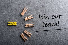 Join our team. Job offer, Hiring and new job concept.  Royalty Free Stock Photo