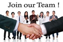 Join Our Team, Motivational Words Quotes Concept stock photos