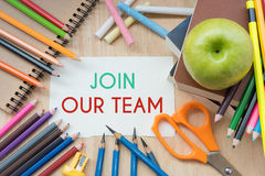 Join our team on note paper Royalty Free Stock Image