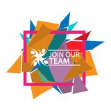 Join our team with people icon. Flat vector illustration on white background. Royalty Free Stock Photography