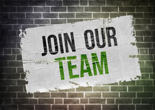 Join our team. Poster concept Royalty Free Stock Photography
