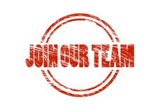Join our team red rubber stamp Royalty Free Stock Images