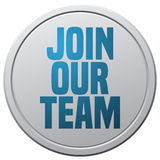 Join Our Team Round Sign. stock photo