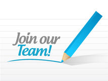 Join our team sign illustration design Stock Photos