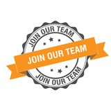 Join our team stamp illustration Royalty Free Stock Photos