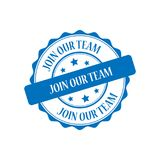 Join our team stamp illustration Royalty Free Stock Photography
