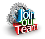 Join Our Team text, Concept. Join Our Team text, 3d Concept Stock Photography